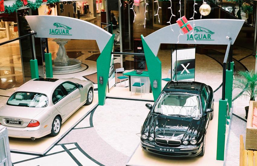 Stand de vendas Jaguar